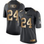 men nike oakland raiders #24 marshawn lynch black gold salute to service stitched nfl limited jersey