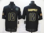 Football San Francisco 49ers #10 Jimmy Garoppolo Stitched Black 2020 Salute To Service Limited Jersey