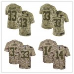 Football New York Jets Stitched Camo Salute to Service Limited Jersey
