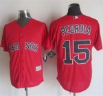 mlb jerseys boston red sox #15 Pedroia Red New Cool Base Stitche