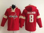 nhl washington capitals #8 ovechkin red-cream [pullover hooded s