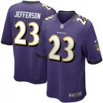Men's NFL Baltimore Ravens #23 Tony Jefferson Nike Purple Stitched Game Jerseys