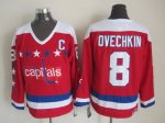 nhl washington capitals #8 ovechkin white-red jerseys