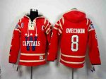 nhl washington capitals #8 ovechkin red [pullover hooded sweatsh