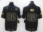Football San Francisco 49ers #80 Jerry Rice Stitched Black 2020 Salute To Service Limited Jersey