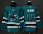 Hockey San Jose Sharks Stitched adidas Home Authentic Teal Drift Fashion Jersey