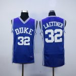 ncaa duke blue devils #32 christian laettner blue jerseys