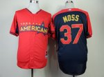 mlb oakland athletics #37 moss red-blue [2014 all star jerseys]