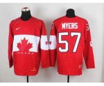 nhl team canada #57 myers red [2014 world championship]