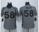 women jerseys nike nfl denver broncos #58 miller gridiron gray limited
