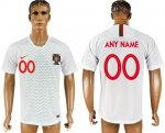 Custom Portugal 2018 World Cup Soccer Jersey White Short Sleeves