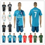 Men 2017-2018 Soccer Club Real Madrid Jerseys Suit