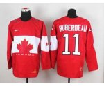 nhl team canada #11 huberdeau red [2014 world championship][hube