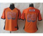 nike women nfl chicago bears #69 allen orange [Elite drift fashi