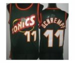 nba seattle supersonics #11 schrempf green [revolution 30 throwb