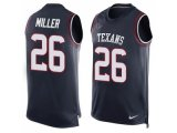 Men's Nike Houston Texans #26 Lamar Miller Navy Blue Team Color Stitched NFL Limited Tank Top Jersey