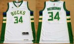 NBA Jersey Milwaukee Bucks #34 Antetokounmpo White Revolution 3