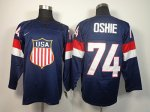 nhl team usa olympic #74 oshie blue jerseys [2014 winter olympic