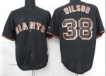 mlb jerseys san francisco giants #38 wilson black fashion