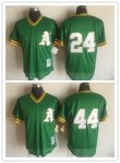 Men's Oakland Athletics Mitchell & Ness Green Cooperstown Collection Big & Tall Mesh Batting Practice Jersey
