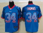 nike nfl buffalo bills #34 thomas blue [elite drift fashion]