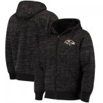 Football Baltimore Ravens G III Sports By Carl Banks Discovery Sherpa Full Zip Jacket Heathered Black