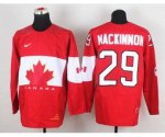 nhl team canada #29 mackinnon red [2014 world championship]