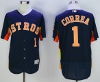 mlb houston astros #1 carlos correa majestic navy flexbase authentic collection player jerseys