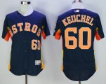 mlb houston astros #60 dallas keuchel majestic navy flexbase authentic collection player jerseys