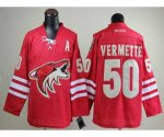 nhl phoenix coyotes #50 vermette red jerseys [A]