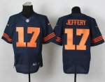 nike nfl chicago bears #17 jeffery elite blue [number orange]