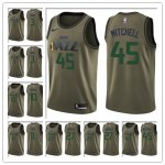 Basketball Utah Jazz All Players Option Swingman Green Salute to Service Jersey