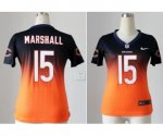 nike women nfl chicago bears #15 brandon marshall blue-orange [e
