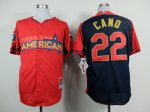 mlb seattle mariners #22 cano red-blue [2014 all star jerseys]