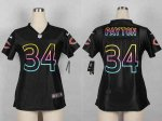 nike women nfl chicago bears #34 walter payton fashion black jer