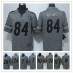 Football Pittsburgh Steelers All Players Grey Stitched Gridiron Gray Limited Jerseys
