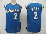 NBA Washington Wizards #2 John Wall Blue cheap jerseys
