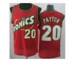 nba seattle supersonics #20 payton red [revolution 30 throwback]