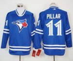 mlb toronto blue jays #11 kevin pillar blue long sleeve jerseys