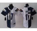 nike women nfl san diego chargers #17 rivers white-blue[Elite sp