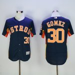 mlb houston astros #30 carlos gomez majestic navy flexbase authentic collection player jerseys
