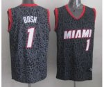 nba miami heat #1 bosh black leopard print [2014 new]
