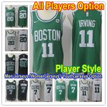 Basketball Boston Celtics All Players Option Authentic Icon Edition Jersey With Patch- Player Style