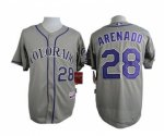 mlb jerseys colorado rockies #28 arenado grey