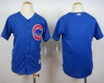 youth mlb chicago cubs blank blue majestic cool base jerseys