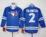 mlb toronto blue jays #2 troy tulowitzki blue long sleeve jerseys