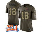 nike indianapolis colts #18 peyton manning green super bowl xli salute to service limited jerseys