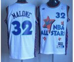 nba 95 all star #32 malone white jerseys