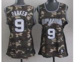 women nba san antonio spurs #9 tony parker camo jerseys
