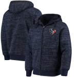 Football Houston Texans G III Sports By Carl Banks Discovery Sherpa Full Zip Jacket Heathered Navy